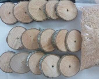 15 Natural Oak Disks and ShiiTake Starter Kit