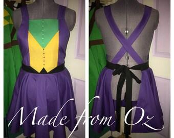 Joker inspired comic character apron