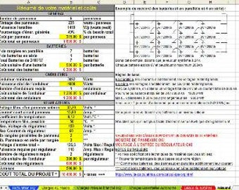Spreadsheets to help in the task to the design of your Green House