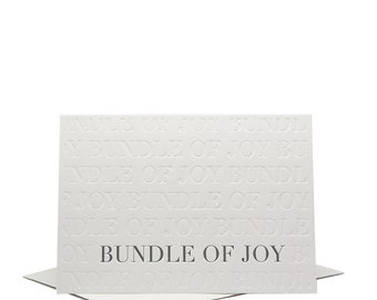 Bundle of Joy - Baby - Letterpress Greeting Card