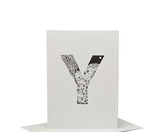 Y for Yak - Letterpress Print