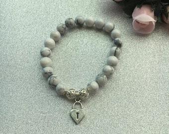 Marble Hand Made Beaded Bracelet