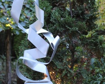 "Large modern abstract aluminium metal sculpture artist unique ""Roundedge"""
