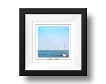 Volendam Holland Print, Sail boat Photography, Square Wall Art