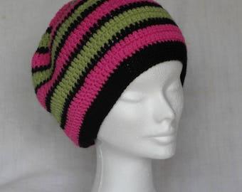Striped crochet Hat
