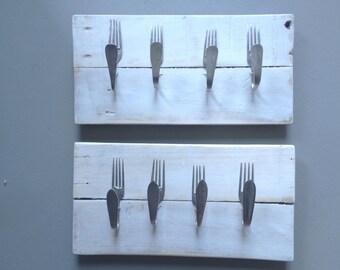 Handdoekrekje vorken wit