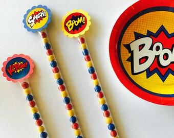 Candy Wands, Superhero Party Favors, Boy Party Favors