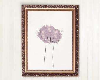Feminist Print Vulva Art Print | printable art, vulva print, pink hearts, wall decor, feminist gift, empowerment, body positivity, vagina