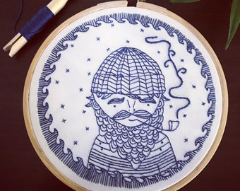 Captain - Hand Embroidery