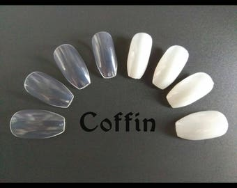 Blank Coffin Ballerina Full Cover False Nails Make Your Own DIY Paint Your Own Set of 24 48 72 96 120 600