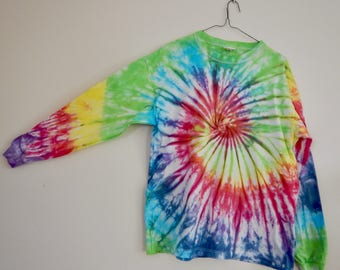 Small rainbow spiral long sleeve shirt