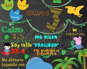 Chalkboard birthday -  - Custom Birthday Sign - Digital File Pizarron festejado