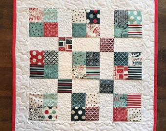 "Quilted Square 20.5"" Table Runner"
