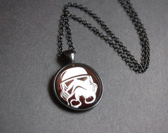 Star wars storm trooper necklace