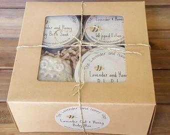 Lavender and Honey Baby Box Gift Set