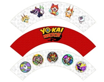 Yokai Watch Cupcake Wrapper