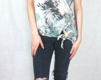 Tropical Printed Tee