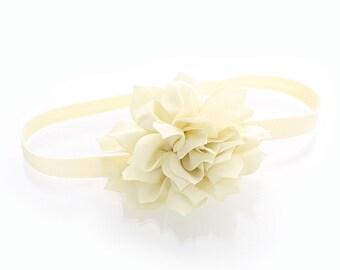 Baby Petal Flower Headband - Ivory