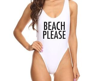 Beach Please Swimsuit Beach Please One Piece Bathing Suit Beach Top Cute Bathing Suit Trendy Swim Suit Festival Swim Suit Beach Bathing Suit