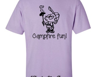 Campfire Fun Camping Adult  Unisex Tshirt