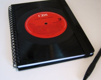 Vintage lined notebook notebook from records DIN A5