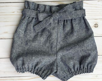 Belted Chambray Bloomers