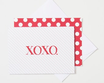 Greeting Card - XOXO