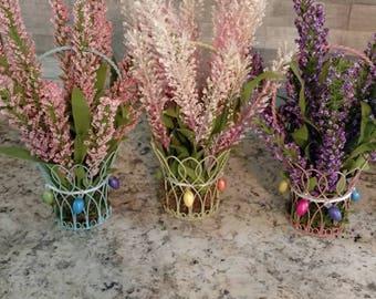 Spring floral baskets