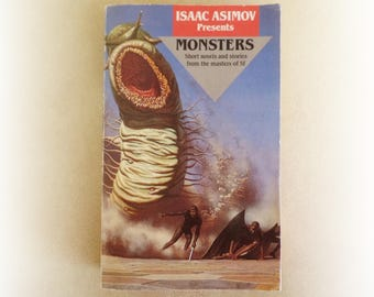 Isaac Asimov - Monsters - science fiction short stories vintage paperback book - 1989