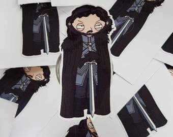 Stewie Griffin X Jon Snow Vinyl Die Cut Sticker