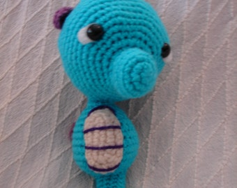 Little Seahorse Amigurumi Toy** FREE SHIPPING **