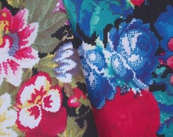 Vintage Digital Flower Fabric