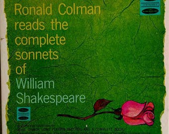 Ronald Colman reads the complete sonnets of William Shakespeare