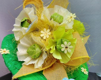 Hand made paper posy bouquet, great gift with candies