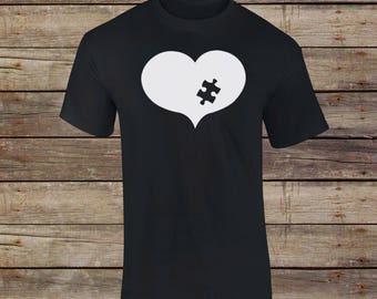Autism Heart T-Shirt - Autism Puzzle Piece -  Autism Awareness - Autism Awareness Month - ASD - Austism Mom - Aspergers Shirt - Autism Dad