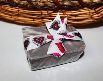 Handmade Charcoal and Rose Clay Spa Bar Soap