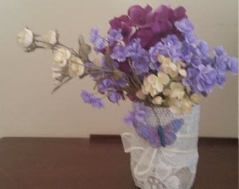 One of a kind artificial floral decoration