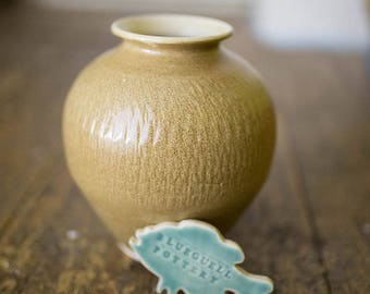 Tan Chattered Vase