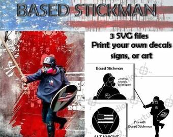 Based Stickman Alt Knight SVG