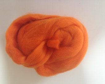 Bright Orange Merino Wool Bundle