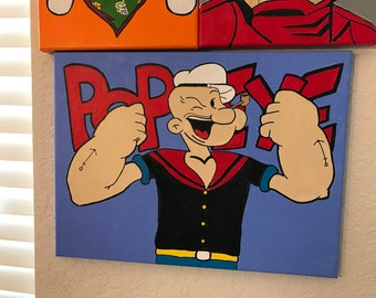 Popeye acrylic painting