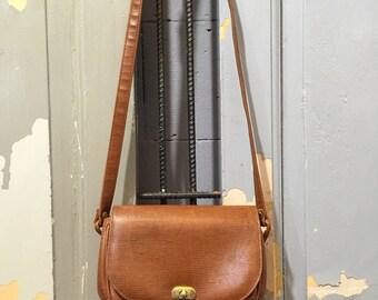 Vintage 90s Faux Leather CrossBody Bag, Women's Handbag