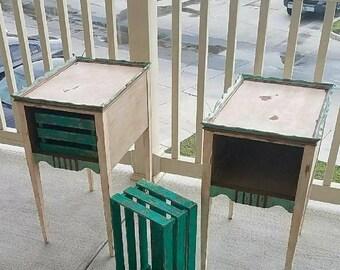Repurposed Antique End Tables