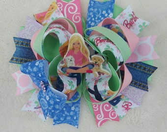 6in. Barbie stacked OTT hairbow