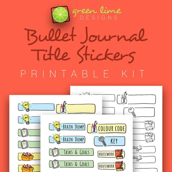 Comprehensive image throughout bullet journal stickers printable