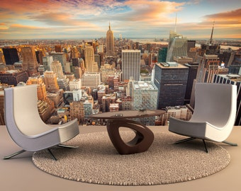 New York City Wall Mural, Wall Decal, Removable Wall Wallpaper Wall Mural  Wall Decal