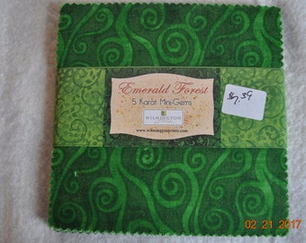 Emerald Forest 5x5 inch Charm Pack