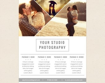 Price List Template - Photoshop Templates for Photographers - P03