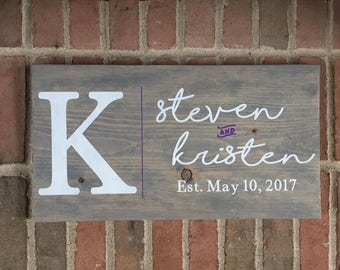 Custom Family Name Sign | Family Sign | Personalized | Family Established  | Family Wood  | Last Name | Last Name Established
