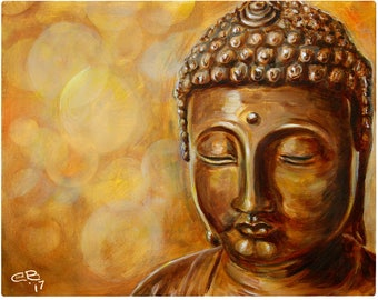 Golden Buddha Limited Edition Print